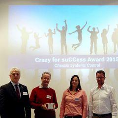 "Preisverleihung ""Crazy for suCCess Award"" durch BOSCH"
