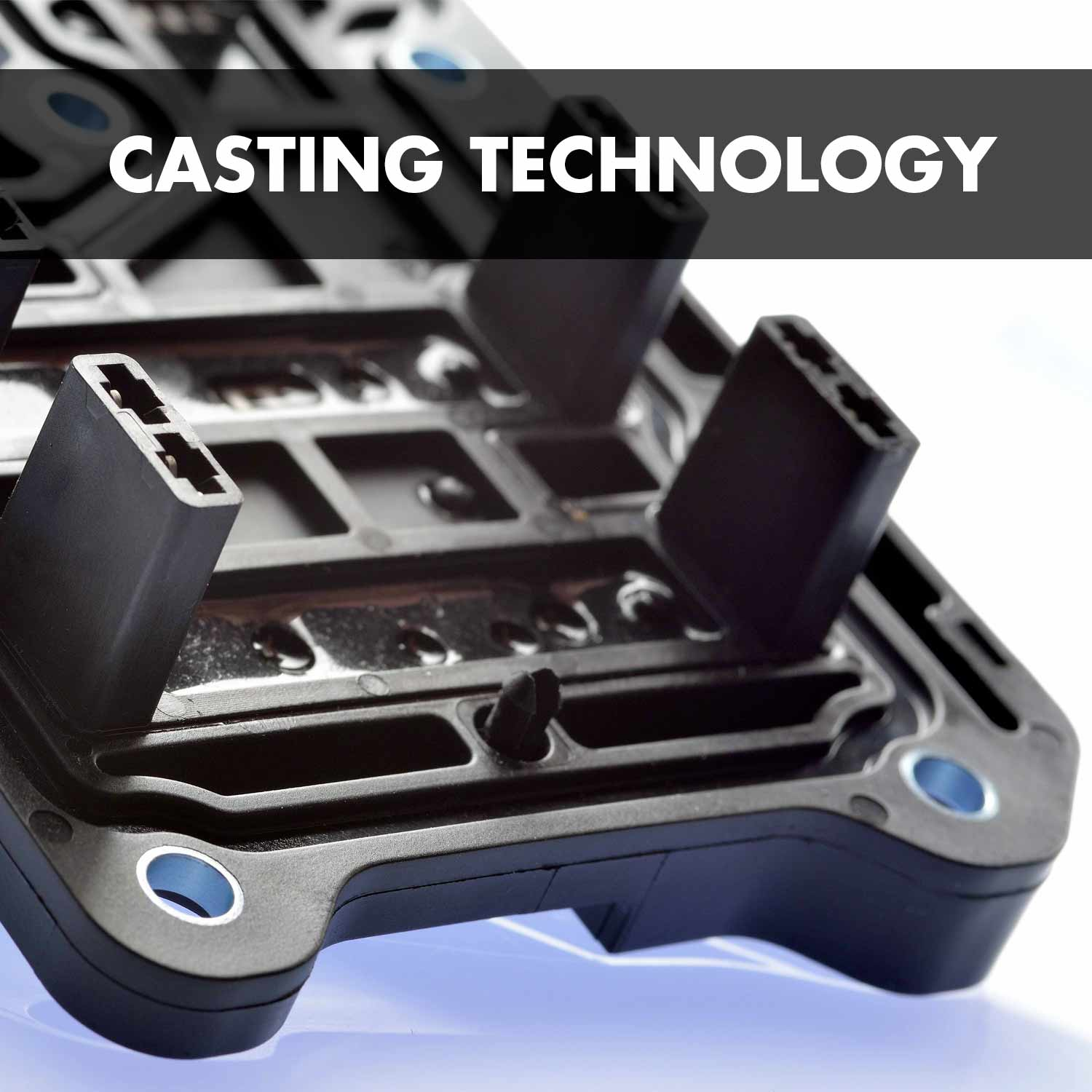 Casting technology: Precisely targeted dosing of high-quality branded casting compounds directly onto the component.
