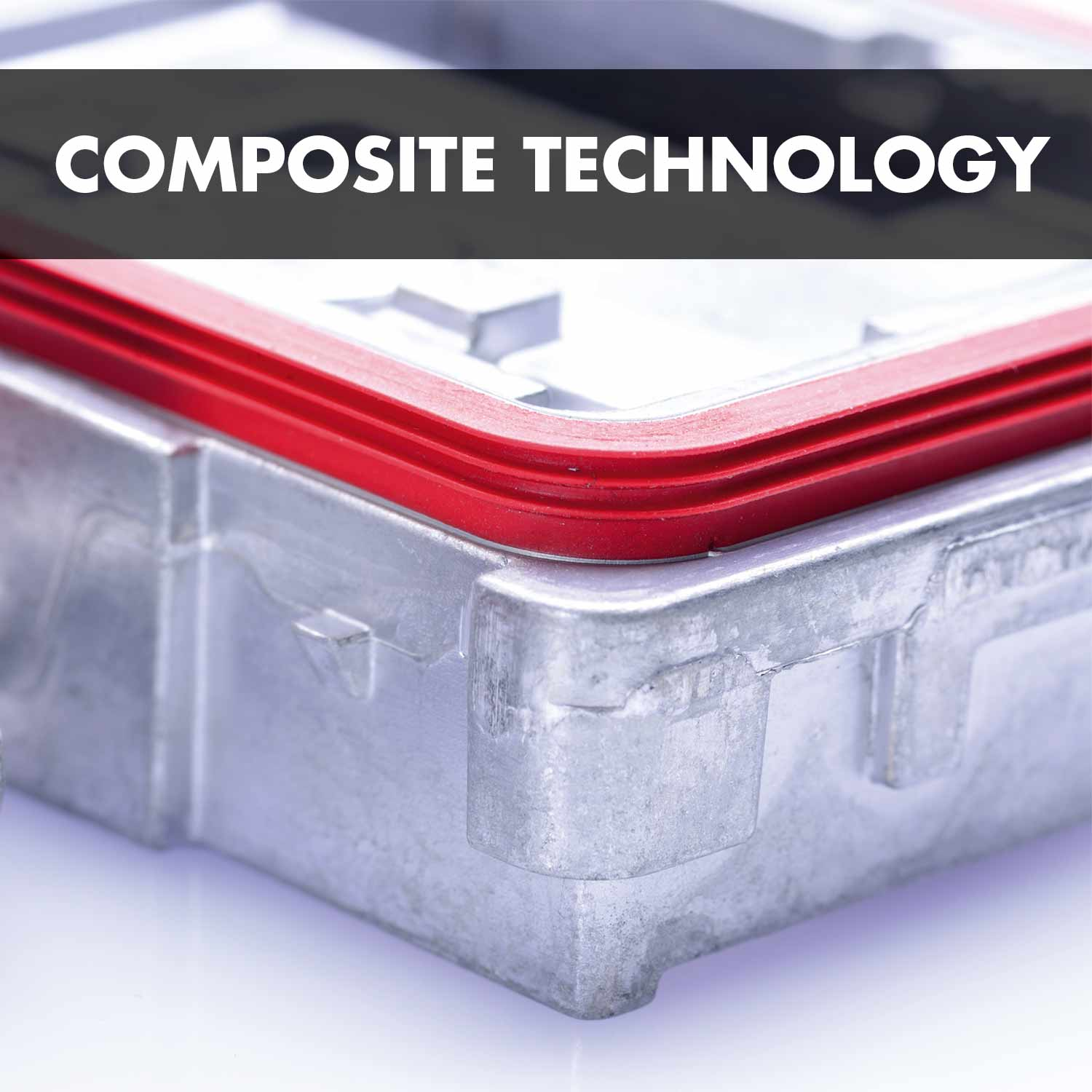 Composite technology: Elastic material vulcanised onto solid support materials.